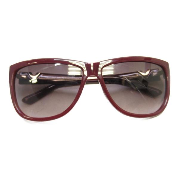 VALENTINO 范倫鐵諾 紅色塑料太陽眼鏡SUNGLASSES 【二手名牌 BRAND OFF】