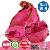 【產銷履歷火龍果】10斤(10-11顆) 第二件82折 免運 鮮果 (下單後12/8-12/15送達) 【廖婉廷的紅龍果園】