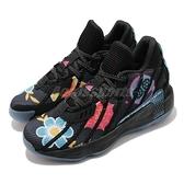 adidas 籃球鞋 Dame 7 DOTD 亡靈節 黑 藍 粉紅 男鞋 Lillard 里拉德 【ACS】 FZ3189