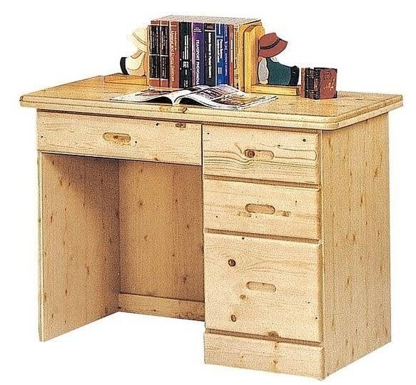 【南洋風休閒傢俱】典雅書桌/電腦桌系列 - 書桌 萬用桌 3.5尺書桌 松木3.5尺書桌 (金519-5)