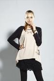 【 BETTY BOOP 】貝蒂秋冬品牌服飾特賣~雪紡口袋貝蒂圖雙色拼接上衣 NO.BW14265