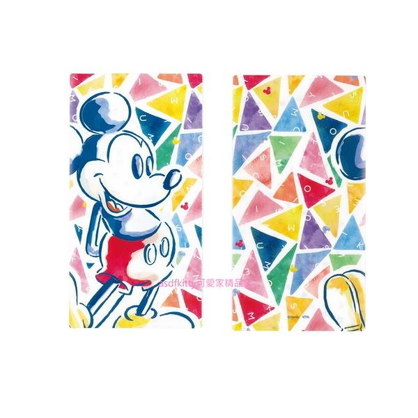asdfkitty可愛家*迪士尼米奇彩色抗菌口罩收納夾/收納套-可收納3個紙口罩-日本製