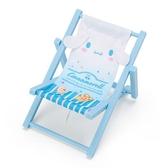 小禮堂 大耳狗 海灘椅造型手機架 塑膠置物架 玩偶椅 (藍白 熱帶沙灘) 4550337-58905