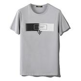 短袖T恤-個性壓皮圖案圓領男上衣3色73mj16【巴黎精品】