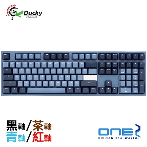 Ducky One 2 海波浪 GOOD IN BLUE PBT 二色成型 Cherry 機械式鍵盤 黑軸 茶軸 青軸 紅軸