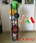 鐵藝籃球收納 足球貨架 排球展示架 兒童玩具球架 皮球收納 訂製igo    易家樂