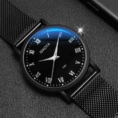 手錶新品手錶男學生正韓簡約潮流休閒大氣夜光中學生非機械手錶女 快速出貨
