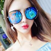 女墨鏡新款圓臉太陽鏡復古大框多邊形眼鏡JK129『樂愛居家館』