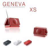 GENEVA Model XS  攜帶式鬧鐘收音機 紅色
