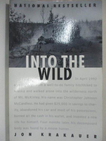 【書寶二手書T1/原文小說_BAJ】Into the Wild_KRAKAUER, JON