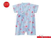 MIKI HOUSE 舞颯兔和風櫻花浴衣(藍)