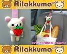 車之嚴選 cars_go 汽車用品【RK46】日本Rilakkuma懶妹手拿草莓造型 多功能掛勾夾 椅背頭枕置物掛鉤