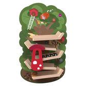 新加坡ORIBEL 創意壁貼玩具_森林溜滑梯