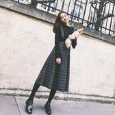 秋裝新款毛衣背帶裙兩件套秋冬季毛呢連身裙小香風連身裙裙子女聖誕交換禮物