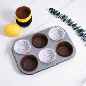 百鑚圓形麥芬蛋糕模具 烤箱家用6/12連不沾烤盤小蛋糕模 烘焙工具