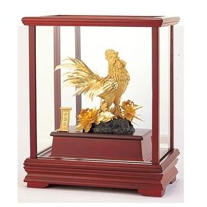 【開運陶源】純金 立體金箔櫥窗~金雞報喜.公雞