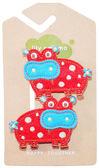 美國手工髮夾髮飾啪啪夾: 嫣紅河馬 Hippo: LM-HCA031