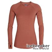 【icebreaker】ZONE 女 網眼保暖圓領長袖上衣 BF260『柚橘』 舒適 羊毛 吸濕 排汗 抑味 控溫 104477