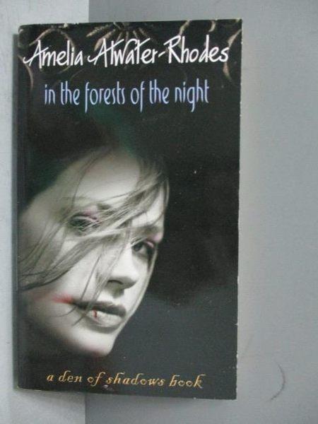 【書寶二手書T6/原文小說_OJH】In the Forests of the Night_Atwater-Rhodes