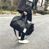 短途旅行包男出差手提包女大容量皮質旅游包行李包袋運動健身包潮