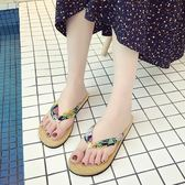 沙灘拖鞋-涼拖人字拖鞋女夏外穿平底可愛度假沙灘鞋女拖鞋海邊防滑夾腳 花間公主