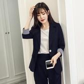 休閒小西裝套裝女2017冬季新款時尚韓國OL小香風職業裝冬裝兩件套