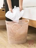 塑料髒衣服收納筐衛生間髒衣籃洗衣籃髒衣簍收納籃【櫻田川島】