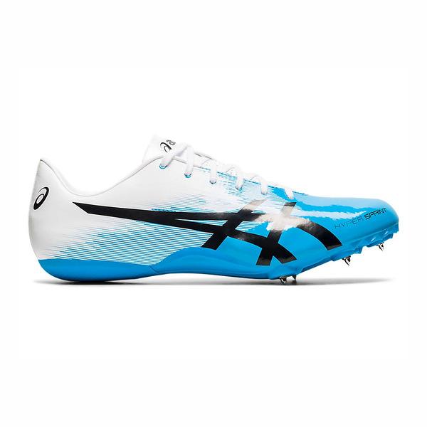 Asics Hyper Sprint 7 [1091A015-402] 男女鞋 田徑釘鞋 短距用 短跑 亞瑟士 白 水藍