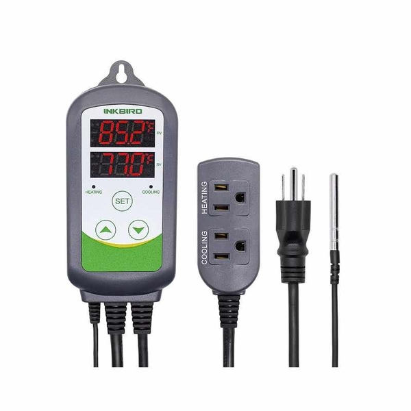 Inkbird 溫度控制器 ITC-308 數字顯示 加熱 冷卻 110V 10A 1100W 園藝 暖房 孵化 育苗 [2美國直購]