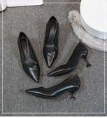 高跟鞋-高跟鞋女細跟百搭新款女鞋單鞋女冬小皮鞋女鞋子女潮流工作鞋 花間公主