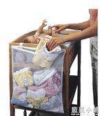 嬰兒床頭掛袋尿布收納袋 新生兒寶寶髒衣服嬰幼兒用品簡易整理袋 藍嵐