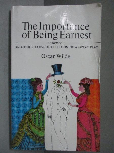 【書寶二手書T6/藝術_NEN】Importance of Being Earnest_Wilde, Oscar