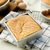 烤盤 4寸6寸8寸10寸正方形戚風蛋糕模活底陽極鋁制烘焙模具鋁合金烘培 麻吉部落