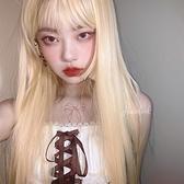 整頂假髮(長髮)-直髮空氣齊瀏海女假髮73xw19【時尚巴黎】