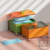 桌面玄關口罩收納盒家用大容量客廳多功能雜物盒帶蓋【輕派工作室】