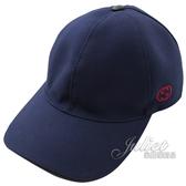 茱麗葉精品【全新現貨】GUCCI 387554 刺繡LOGO棉質棒球帽/鴨舌帽.深藍