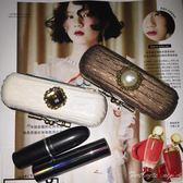 口紅收納盒保護套復古和風皮革唇膏保護殼首飾禮物盒【聚寶屋】印章盒【聚寶屋】