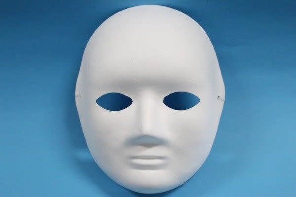 全臉面具 DIY彩繪面具 空白面具 (附鬆緊帶) /一個入 [#40] 臉譜 歌劇魅影 DIY面具