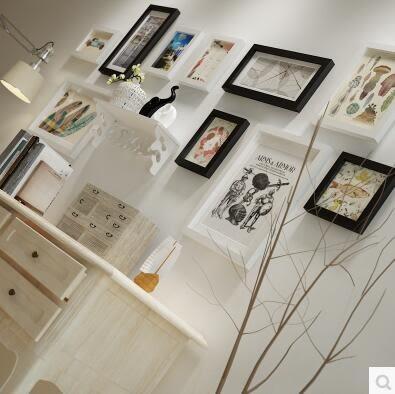 高端實木照片牆現代簡約相片牆家居背景牆裝飾組合相框2133
