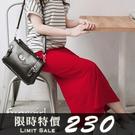 簡約素面鬆緊腰後小開衩棉質鉛筆長裙-7色 ~funsgirl芳子時尚