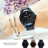 韓國WEIYA浩瀚星河點鑽凸面金屬鍊帶手錶【WWY137】璀璨之星☆