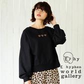 ❖ Autumn ❖ Hello Kitty聯名款-2WAY刺繡圖案氣球袖上衣 - E hyphen world gallery