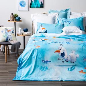 HOLA 迪士尼系列 Frozen 2 純棉防蟎抗菌床被組 雪寶 單人 冰雪奇緣 Olaf