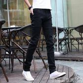 牛仔褲夏季薄款淺色牛仔褲男士潮牌彈力修身小腳黑色休閒褲子男韓版潮流 衣間迷你屋