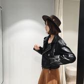 年新款女裝皮衣外套寬鬆夾克短款