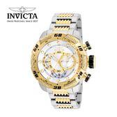【INVICTA】新一代極致繩索腕錶 鋼鍊款 52mm - 金白款