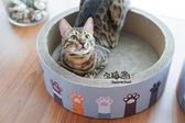 萌萌的小貓爪子貓頭型瓦楞紙貓抓板
