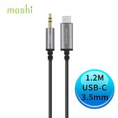 moshi Aux 3.5mm 音源 轉 USB Type-C 線 1.2 m 黑色 99MO084004