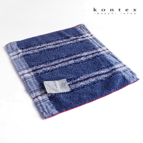 【【クロワッサン科羅沙】日本今治~Kontex40細紗海洋紋方巾  (二色可選)