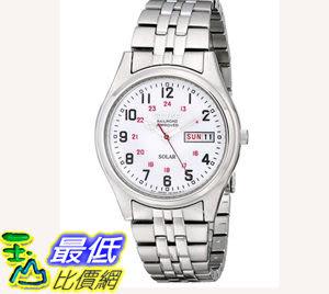 [104美國直購] 男士手錶 Seiko Men s SNE045 Solar White Dial Watch $4080